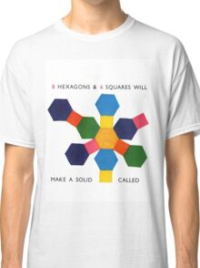 hexagons and squares Classic T-Shirt