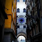 St Marks Square Clock, Venice by David J Baster