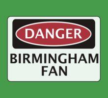 DANGER BIRMINGHAM CITY, BIRMINGHAM FAN, FOOTBALL FUNNY FAKE SAFETY SIGN One Piece - Short Sleeve