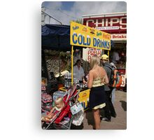 Cold drinks for sale in Eastbourne Canvas Print