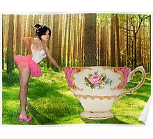 I'm a little teapot, short and stout (resized) / Ich bin ein wenig Teekanne, Kurz und dick Poster