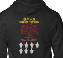 Crimson Typhoon Kaiju Kills Zipped Hoodie