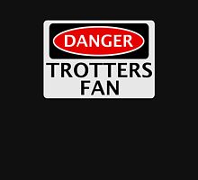 DANGER BOLTON WANDERERS, TROTTERS FAN, FOOTBALL FUNNY FAKE SAFETY SIGN Womens Fitted T-Shirt