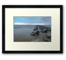 Irish sea tide breakers Framed Print