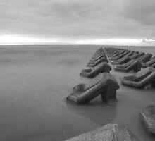 Black and white Irish Sea by Paul Madden