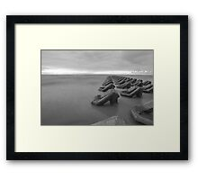 Black and white Irish Sea Framed Print