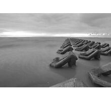 Black and white Irish Sea Photographic Print