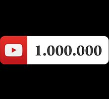 YouTube 1 Million Subscribers by SKpixel