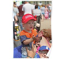 A young red arrows fan in Eastbourne Poster