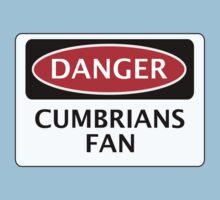 DANGER CARLISLE UNITED, CUMBRIANS FAN, FOOTBALL FUNNY FAKE SAFETY SIGN Kids Tee