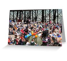 Crowds on the beach at Airbourne in Eastbourne Greeting Card