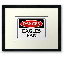 DANGER CRYSTAL PALACE, EAGLES FAN, FOOTBALL FUNNY FAKE SAFETY SIGN Framed Print