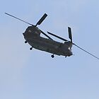 A chinook helicopter displays at Airbourne in Eastbourne by Keith Larby