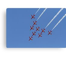 The Red Arrows fly at Airbourne in Eastbourne Canvas Print