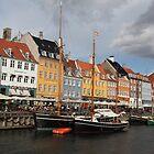 Nyhavn Harbour, Copenhagen. by John Dalkin