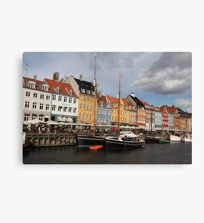 Nyhavn Harbour, Copenhagen. Canvas Print