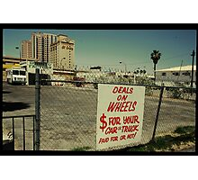 Deals on Wheels in Kodachrome Photographic Print