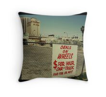 Deals on Wheels in Kodachrome Throw Pillow