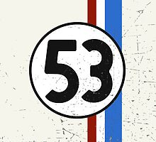 Vintage Look 53 Car Race Number Graphic by VintageSpirit