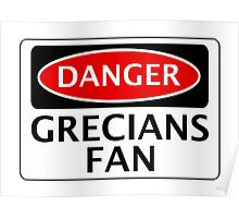 DANGER EXETER CITY, GRECIANS FAN, FOOTBALL FUNNY FAKE SAFETY SIGN Poster