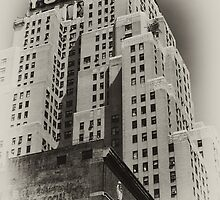 The New Yorker Hotel, old sepia postcard by Reinvention