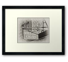 Old Village Cigar's sign in the West Village, New York City Framed Print