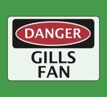 DANGER GILLINGHAM, GILLS FAN, FOOTBALL FUNNY FAKE SAFETY SIGN One Piece - Short Sleeve