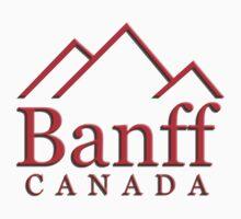 Banff Alberta Canada Logo by leksele