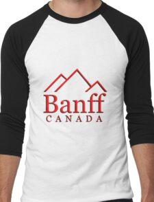 Banff Alberta Canada Logo Men's Baseball ¾ T-Shirt