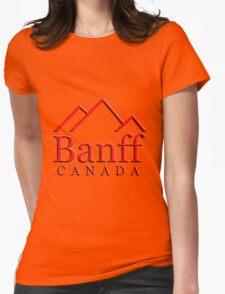 Banff Alberta Canada Logo Womens Fitted T-Shirt