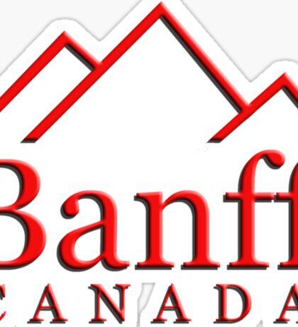 Banff Alberta Canada Logo Sticker