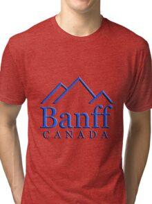 Banff Alberta Canada Logo Tri-blend T-Shirt