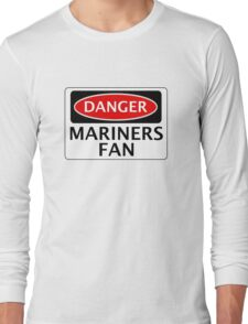 DANGER GRIMSBY TOWN, MARINERS FAN, FOOTBALL FUNNY FAKE SAFETY SIGN Long Sleeve T-Shirt