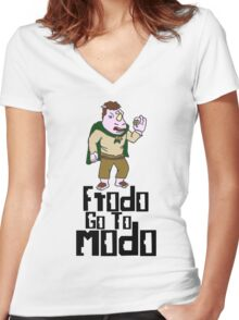 frodo go to modo Women's Fitted V-Neck T-Shirt