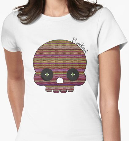 Bone Kandi - Buttons Womens Fitted T-Shirt