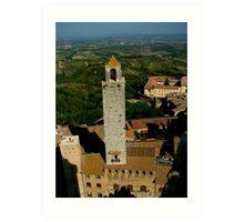 The Belltower Of San Gimignano Art Print