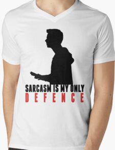 Stiles Stilinski - Sarcasm is my only defence Mens V-Neck T-Shirt