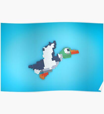 8-Bit Duck Poster