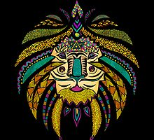 Emperor Tribal Lion Black by Pom Graphic Design