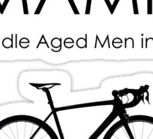 Cycling T Shirt - MAMIL (middle aged men in lycra) Hydration Sticker
