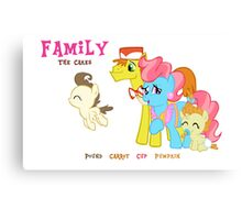 The Cakes Family - My Little Pony Canvas Print