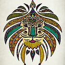 Emperor Tribal Lion by Pom Graphic Design