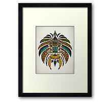 Emperor Tribal Lion Framed Print