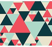 Triangular Pattern Photographic Print