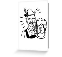 Retro Guy with Beer Greeting Card