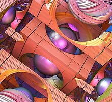 Into the Magic, Fractal abstract 3-d artwork by walstraasart