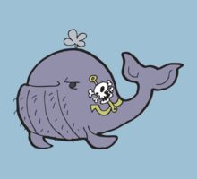 Manly tattooed whale Kids Clothes