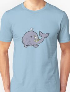 Manly tattooed whale T-Shirt