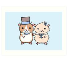 Hamster Wedding Couple Art Print