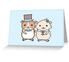 Hamster Wedding Couple Greeting Card